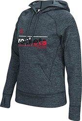 adidas NBA Women's Houston Rockets Slant Pullover Hood - Onix Melange - M
