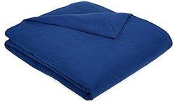 AmazonBasics Solid Lightweight Flannel Duvet Cover - Cadet Blue - Size: K