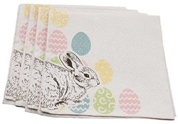 Xia Home Fashions Bunny Eggs Printed Easter Napkin (Set of 4