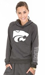 NCAA Women's Kansas State Wildcats Buttersoft Tri-Blend Hoodie -Tri-Onyx/M