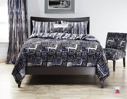 Siscovers Cosmotech 6-Piece Duvet Set - Black - Size: King