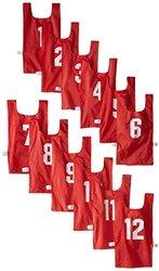 US Games Unisex Numbered Nylon Pinnies - One Dozen - Blue - Size: Youth