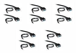 C&E Shielded 10-Ft SVGA Cable w/ 3.5mm Audio HD15 Male - 5 Pk (CNE498800)