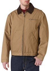 Teflon Men's Duck Jacket with Contrast Corduroy Collar, 3X-Large, Tan