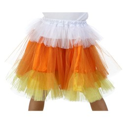 Candy Corn Kids Deluxe Glitter Skirt