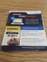 Cengar Learning Enhanced Web Assign Printed Access Code - Statistics