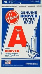 Hoover Type A Filtration Bags for Select Hoover Upright Cleaners - 3 Pack