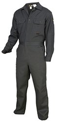 "Flame Resistant Coveralls - Gray / 64-Tall Chest-64"" Waist-64"" Inseam-32"""