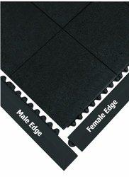 WEARWELL 572 Modular Safety Edging, Female, Black G4897636