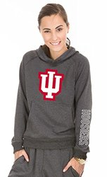 NCAA Indiana Hoosiers Buttersoft Tri-Blend Hoodie, X-Large, Tri-Onyx