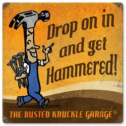 Busted Knuckle Garage BUST086 Carpenter Sign