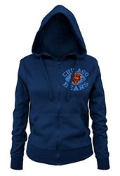 NFL Chicago Bears Ladies Zipped Hooded Fleece, Navy, Small