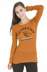 NCAA Oregon State Beavers Women's Tee with Thumbholes - Orange - Sz: S