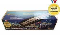"SeaStar Aquarium Lighting 24"" Single Strip LED Tank Light, Medium, White Mixed with Actinic Blue"