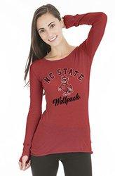 NCAA Women's North Carolina State Wolfpack Layla Tee w/ Thumbholes - Red/M