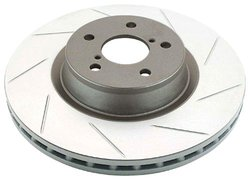 DBA Street Series Slotted Left Hand Disc Brake Rotor - Front Vented