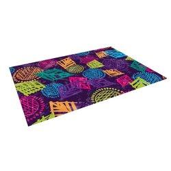 "Kess InHouse Emine Ortega ""African Beat Purple"" Outdoor Floor Mat/Rug, 5 by 7-Feet"
