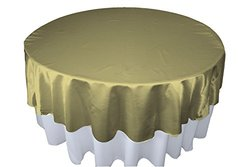 LA Linen Bridal Satin Round Tablecloth 72-Inch Sage Sage