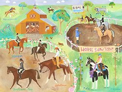 Oopsy daisy Horse Show Canvas Wall Art  by  Donna Ingemanson, 24x18