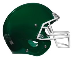 Rawlings NRG Force Football Helmet, X-Small, Dark Green