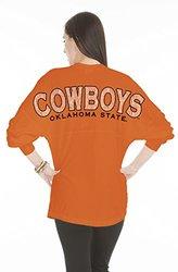 Oklahoma State Cowboys Women's Jade Long Sleeve Jersey - Orange - Size: XL