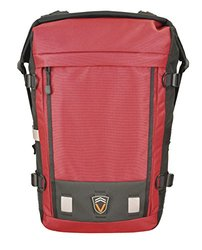 Velo Transit Men's Fremont 30 Waterproof Urban Cycling Commuter Backpack, Medium, Red/Black