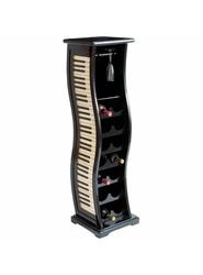 "Deco 79 Wood Piano - Black/Ivory - Wine Rack - Size: 49""x14"""