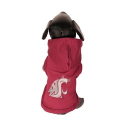 NCAA Washington State Cougars Hooded Dog Shirt - Size: Tiny