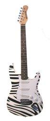 """Braun ZEBRA Full Sz Electric Guitar 39"""""""