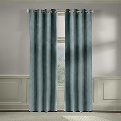 Veratex American Collection Velvet Soft Luxury Curtain Silver