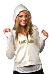 "Women's NFL Chicago Bears ""Play-Action"" Full-Zip Hoody - Cream - Small"
