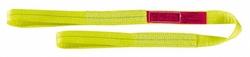 "Lift-All 6"" x 10' 2-ply Flat Eye Polyester Web Eye & Eye Sling - Yellow"