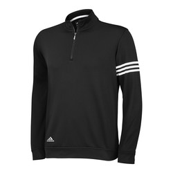 adidas Men's Climalite 3-Stripes Pullover - Black - Size: Large