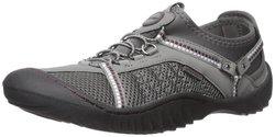 JSport by Jambu Women's Compass Flat Shoes - Grey/Purple - Size: 6.5