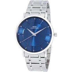 Oniss Men's 42mm Slim Swiss Quartz Analog Watch - Blue/Silver (ON5212-MBU)
