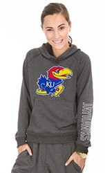 NCAA Kansas Jayhawks Buttersoft Tri-Blend Hoodie, X-Large, Tri-Onyx