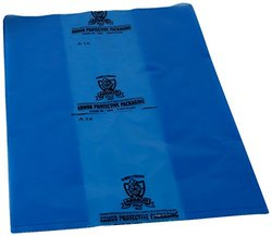 "Armor Protective Packaging PVCIBAG4MB231746 VCI Poly Bag Prevents Rust, Corrosion on Ferrous and Non-Ferrous Metal, 4 Mil, 23"" X 17"" X 46"", Blue (Pack of 100)"