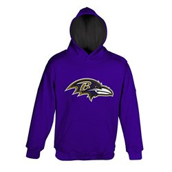 NFL Boys Baltimore Ravens Primary Pullover Hoodie - Purple - Youth Large