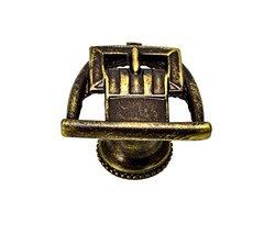Carpe Diem Hardware 8004-3 Americana Antique Brass Straps In Stirrup Knob