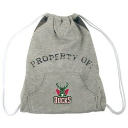 Milwaukee Bucks Hoodie Cinch Bag white