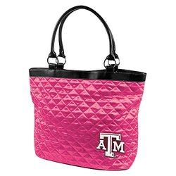 NCAA Texas A & M University Pink Quilted Tote
