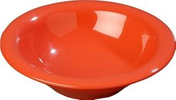 24 Pack Carlisle Durus Rimmed Melamine Bowl - 13 Oz. - Sunset Orange