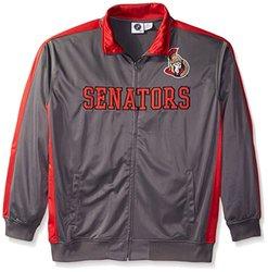 NHL Ottawa Senators Men's Tricot Track Jacket, 4X, Charcoal