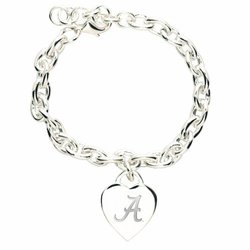 NCAA Alabama Crimson Tide Heart-Charm Bracelet