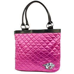 NHL Detroit Red Wings Pink Quilted Tote