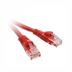 C&E CAT5E 350MHz UTP Cable with Molded Boot - Red - Size: 50 ft