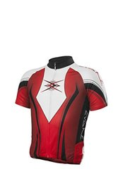 EVAKI Sportswear Men's Race Cut Cycling Jersey, Red, XX-Large