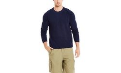Jachs Men's Crew Neck Pullover - Black Iris - Size: Large