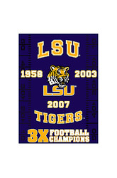 LSU Tigers Commemorative Throw by Northwest Lsu Team