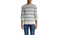 Ben Sherman Men's Striped Crew Neck Sweater - Light Sand - Size: XL